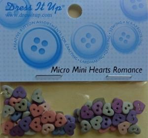 ✂ Dress It Up Micro Mini Hearts Romance - Handarbeit kaufen