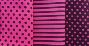 ✂ Stoffpaket Streifen-Punkte-Mix pink - Handarbeit kaufen