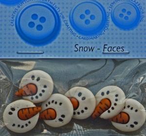 ✂ Dress It Up Snow Faces 6 Stück - Handarbeit kaufen