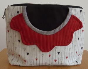 ♥ kleine Kosmetiktasche  mit Außentaschen und Innenfächern - Handarbeit kaufen
