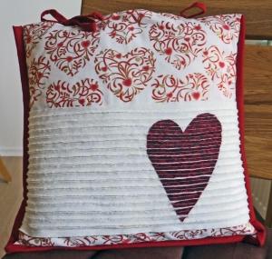 ♥ hübscher Kissenbezug mit Herz zum Verlieben - Handarbeit kaufen
