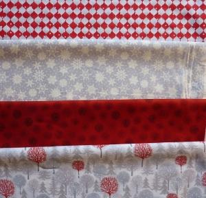 ✂ Stoffpaket  Weihnachten Weihnachten-Mix grau-rot Henry Glass - Handarbeit kaufen