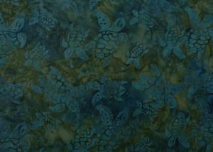 ✂ Patchworkstoff Meterware  Eyelike Fabrics Batik Schildkröten dunkel blau-grün - Handarbeit kaufen