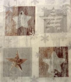 ✂ Patchworkstoff Meterware Weihnachtsstoffe Wooden Motive - Handarbeit kaufen