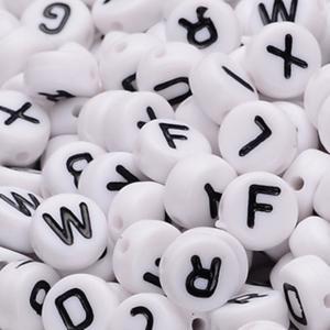 100 Perlen aus Kunststoff Buchstaben, Buchstabenperlen zum Auswählen A-Z