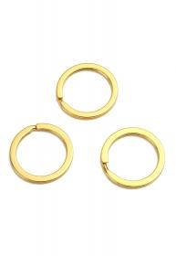 10 Stück Schlüsselringe, goldfarben, 30 mm