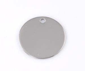 10 Stück Silberne Edelstahl-Logos,Anhänger,Gravurplatten, 30 mm