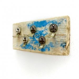 Stylisches Schlüsselbrett aus Treibholz (5 Haken)/ Hakenleiste/ Unikat/ handmade kaufen