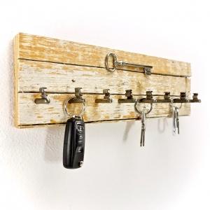 Maritimes Schlüsselbrett aus Treibholz (8 Haken)/ Hakenleiste/ Schlüsselaufhänger/ Unikat/ handmade kaufen