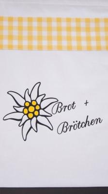 Brotbeutel, Brötchenbeutel, weiß mit Motiv Nr. 229 / Handarbeit, Näharbeit!