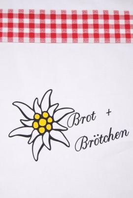Brotbeutel, Brötchenbeutel, weiß mit Motiv Nr. 231 / Handarbeit, Näharbeit