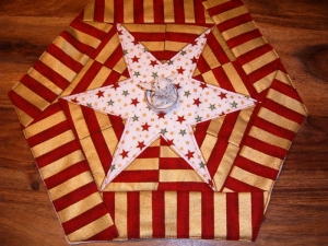 Weihnachtsdecke, Sternendecke, Deckchen , Stern, Weihnachten