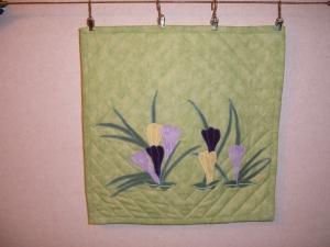 Frühlingsbild, Wandbehang, Quilt, Wandbild .