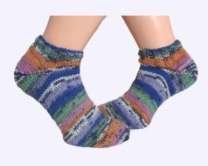 Handgestrickte bunte Sneaker Socken ♡Sommer♡ Gr 37 38 ♡ Verrückte Maschen