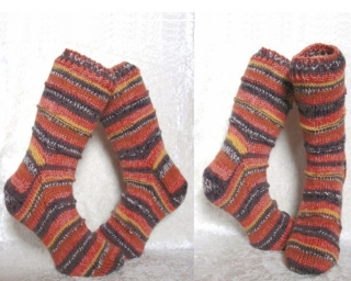 Handgestrickte Socken 42 43 ☆Fuchs☆ unisex Farbverlaufwolle ☆ Verrückte Maschen