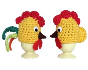 2 Eierwärmer ♡Hühnchen und Hähnchen♡ gehäkelt Tischdekoration ♡ Verrückte Maschen