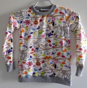 Pullover langarm, Rundhals - Gr. 80 Dschungelwelt