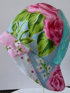 Sonnenhut mit Nackenschutz - Rosen / Blumen - KU 47-48