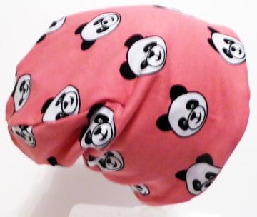 SALE - Baby-Mütze - Beanie - Panda rosa - KU 40-45