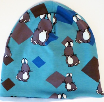 SALE - Baby-Mütze - Beanie - Kaninchen hellblau - KU 40-45