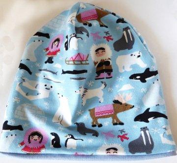 SALE - Baby-Mütze - Beanie - Eisbär, Pinguin, Walross, Rentier, Eskimo - KU 40-45