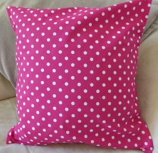 Kissenbezug - Punkte - pink - 40x40cm