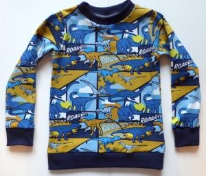 Pullover / Langarmshirt - Dinosaurier Roarrr!!! Blau Gr. 104