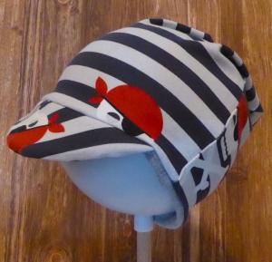 Schirmmütze / Mütze / Beanie - Piraten, Totenköpfe, gestreift KU 46-50