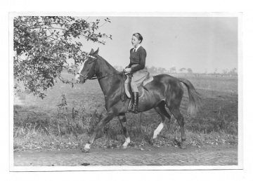 Altes Foto ★ HÜBSCHE AMAZONE ★  Mädchen reitet auf Pferd, 1940er Jahre