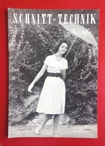 ★ SCHNITT-TECHNIK IM MODESCHAFFEN ★  Vintage Fachzeitschrift für Schneiderinnen, Ausgabe August 1960