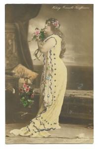 Alte Foto Postkarte  ★ DIE OPERNSÄNGERIN ★ Portrait der österreichischen Sängerin Hedwig Francisco-Kauffmann,1908
