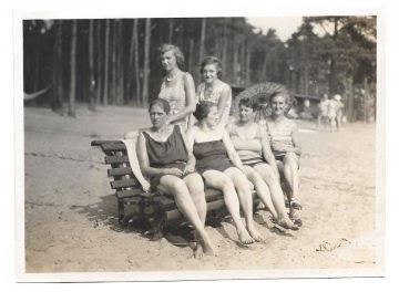 Altes Foto ★ 6 DAMEN IM BADEANZUG ★ 1920er Jahre