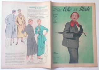 ★ Modezeitschrift - LE PETIT ECHO DE LA MODE ★ Französisches Vintage Modemagazin Frauenzeitschrift,  Heft Nr. 6 Februar 1953