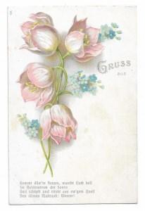 Alte Jugendstil Postkarte  ★ MAIGLÖCKCHEN ★ Grußkarte um 1905