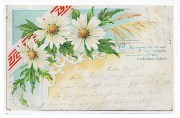 Alte Jugendstil Postkarte  ★MARGERITEN ★ Grußkarte von 1903