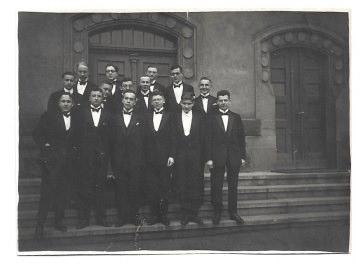 Altes Foto ★ ABITURIENTEN IM SMOKING ★ elegante Schüler, 1926