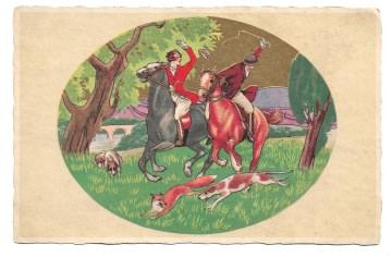 Alte Postkarte ★ FUCHSJAGD ★  Künstlerkarte 20er Jahre