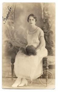 Alte Foto Postkarte ★GRACIELA - EINE SCHÖNHEIT AUS HAVANNA ★ elegante junge Frau aus Kuba, 1923