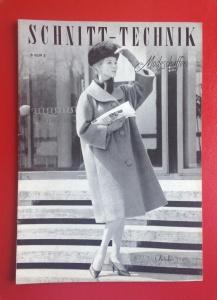 ★ SCHNITT-TECHNIK IM MODESCHAFFEN ★  Vintage  Fachzeitschrift mit Schnitten für Schneiderinnen, Ausgabe Oktober 1960