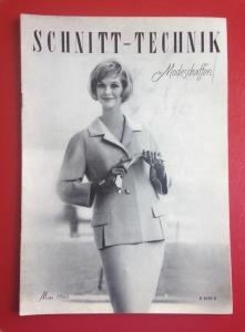 ★ SCHNITT-TECHNIK IM MODESCHAFFEN ★  Vintage  Fachzeitschrift mit Schnitten für Schneiderinnen, Ausgabe Mai 1960