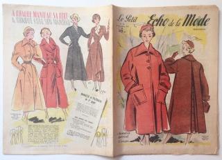 ★ Modezeitschrift - LE PETIT ECHO DE LA MODE ★ Französisches Vintage Modemagazin Frauenzeitschrift,  Heft Nr. 38 September 1949