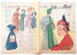 ★ Modezeitschrift - LE PETIT ECHO DE LA MODE ★ Französisches Vintage Modemagazin Frauenzeitschrift,  Heft Nr. 32 August 1949