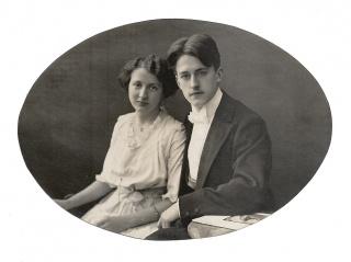 Alte Fotografie ★ JUNGES PAAR UM 1910 ★