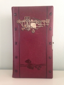 ★Wunderschönes altes Jugendstil Fotoalbum in dunkelrot, aus der Zeit um 1890