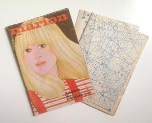 ★ MARION - MODEJOURNAL FÜR SELBSTSCHNEIDERINNEN ★  Vintage  Modezeitschrift mit Schnittmusterbogen,  Ausgabe April 1974