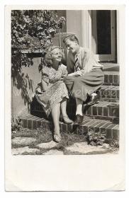 Alte Foto Postkarte★ VERLIEBTES PAAR AUF WOLKE 7 ★  1944