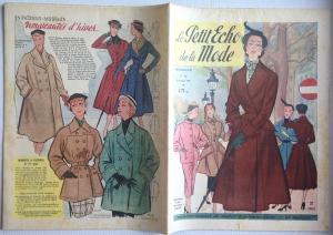★ Modezeitschrift - LE PETIT ECHO DE LA MODE ★ Französisches Vintage Modemagazin Frauenzeitschrift,  Heft Nr.40 Oktober 1951