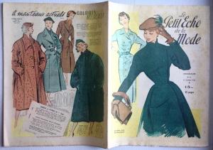 ★ Modezeitschrift - LE PETIT ECHO DE LA MODE ★ Französisches Vintage Modemagazin Frauenzeitschrift,  Heft Nr.41 Oktober 1951
