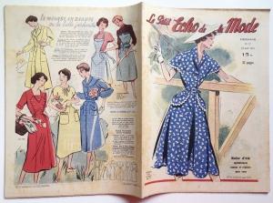 ★ Modezeitschrift - LE PETIT ECHO DE LA MODE ★ Altes französisches Vintage Modemagazin Frauenzeitschrift,  Heft Nr.17 April 1951