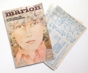★ MARION - MODEJOURNAL FÜR SELBSTSCHNEIDERINNEN ★  Vintage  Modezeitschrift mit Schnittmusterbogen,  Ausgabe Januar 1975